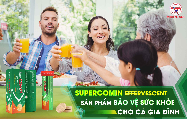 Supercomin Effervescent phù hợp cho cả người lớn lẫn trẻ nhỏ